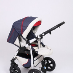 Carucior copii 2 in 1 - Carucior 2 in 1 Q9 Baby Merc Color 22 (Navy Red White) Baby-Merc