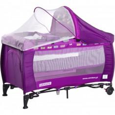 Patut pliant bebelusi - Patut pliant Grande cu vibratii 120 x 60 cm Purple Caretero