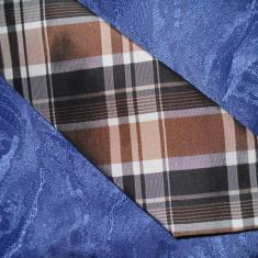 Cravata ESPRIT COLLECTION, matase naturala - Cravata Barbati Esprit, Culoare: Maro, Geometric