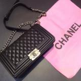 Chanel Le Boy Silver Accesories 2016 Collection * 25 x 19 cm *