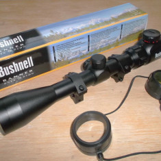 Luneta arma BUSHNELL BANNER 3-9X40EG -reticul iluminat-inele incluse