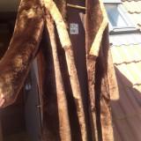 Palton dama - Haina blana naturala Mouton Dore marimea 50