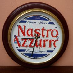 Ceas de perete - Ceas Vintage de Perete Reclama Bere Italia