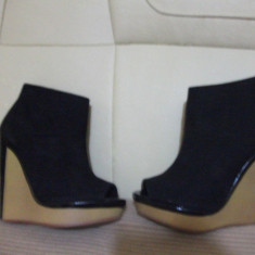 Pantofi dama - Botine decupate BERSHKA, nr.38