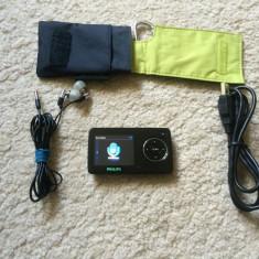Mp3 player Philips Go Gear 8GB+casti+cablu date+husa(baterie 20 ore la vol max) - Mp4 playere Philips, Negru