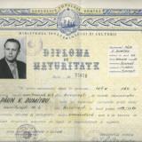 Diploma/Certificat - Diploma de maturitate / RPR / Paun Dumitru