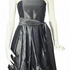 Rochie tafta gri Zara, fusta gogosar, marime S - Rochie de zi Zara, S