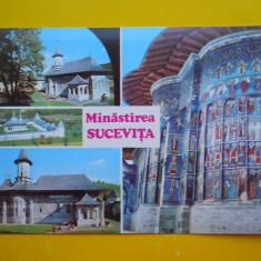 HOPCT 17405 MANASTIREA SUCEVITA -JUD SUCEAVA -NECIRCULATA - Carte Postala Bucovina dupa 1918, Printata