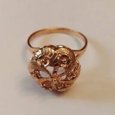 Inel rusesc aur 14k - Inel aur, Culoare: Galben
