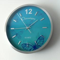 1+1 GRATIS! Ceas de perete Chronique cu Fluturi, Mare, 30 cm