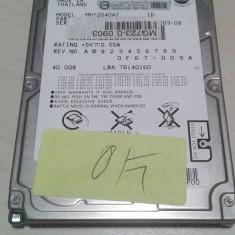 Hard-Disk / HDD laptop Fujitsu IDE 40GB 5400rpm st9120822A, 41-80 GB, Rotatii: 5400, 8 MB