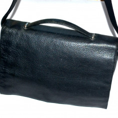 Geanta tip servieta din piele naturala LEONHARD HEYDEN Germania - Geanta Barbati, Marime: Medie, Culoare: Negru