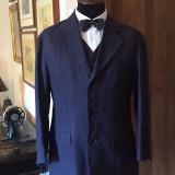 Costum barbati, 3 nasturi, Marime sacou: 46, In - Costum nou din in, barbati, mas. 46 (3 piese) Italia
