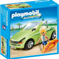 Masina Decapotabila Si Surfer - Masinuta electrica copii Playmobil