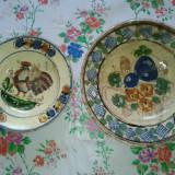 3 Farfurii 2 ceramica si 1 portelan ptr ornat pereti .