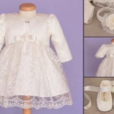 Set botez Baby Lace (Imbracaminte pentru varsta: 0 - 1 luni - 52 cm)