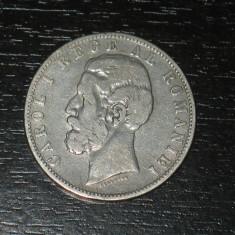 Monede Romania, An: 1884, Argint - Moneda argint 5 lei Romania 1884, regele Carol I