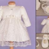 Set botez Baby Lace (Imbracaminte pentru varsta: 9 - 12 luni - 80 cm)