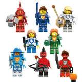 Minifigurine tip LEGO Nexo Knights SY610 Macy Beast Master Lance Aaron Clay - Jocuri Seturi constructie, 6-8 ani, Baiat
