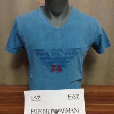 Tricou Emporio Armani lichidare de stoc IUNIE 2016 STOC LIMITAT, ULTIMELE BUC! - Tricou barbati Emporio Armani, Marime: M, L, Culoare: Bleu, Maneca scurta, Bumbac