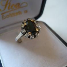 LICHIDEZ COLECTIE-INEL CU SAFIR SI BRILLIANTE - Inel diamant, 14k, Alb