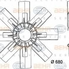 Paleta ventilator, racire motor - HELLA 8MV 376 727-021 - Ventilatoare auto