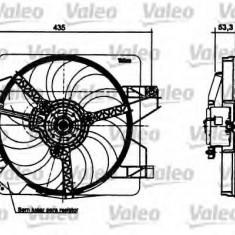 Motor electric, ventilator FORD KA 1.0 i - VALEO 698496 - Electroventilator auto