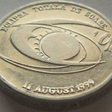 Moneda 500 Lei Allu - Romania 1999 eclipsa *cod 344 - Moneda Romania, Aluminiu