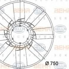 Paleta ventilator, racire motor MERCEDES-BENZ ACTROS 1831, 1831 L - HELLA 8MV 376 733-261 - Ventilatoare auto