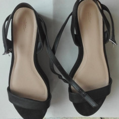 Sandala Zara Trafaluc - Sandale dama Zara, Marime: 38 2/3, Culoare: Negru