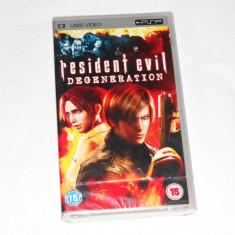 Film Sony Playstation portable PSP UMD - Resident Evil Degeneration - sigilat - Jocuri PSP Sony, Curse auto-moto, Toate varstele, Single player
