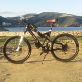 Mountain bike full suspension, 24 inch, 26 inch, Numar viteze: 21