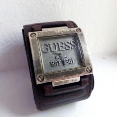 Ceas original barbatesc GUESS EST 1981 - Ceas barbatesc