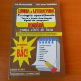 Limba si literatura romana, Concepte operationale. Examenul de BAC Mariana Badea - Teste Bacalaureat