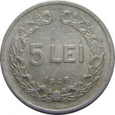 ROMANIA, 5 LEI 1949 * cod 50 - Moneda Romania, Aluminiu