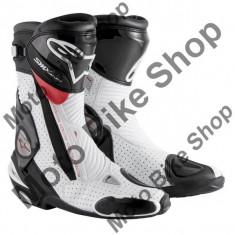 MBS Cizme Alpinestars Racing SMX Plus Vented, negru-alb-rosu, 45, Cod Produs: 222101512845AU - Cizme barbati