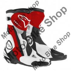 MBS Cizme Alpinestars Racing SMX PLUS, negru-rosu-alb, 41, Cod Produs: 222101513241AU - Cizme barbati