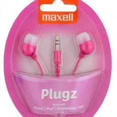 CASCA MAXELL INNER EAR BUD PLUGZ PINK 303753.00.CN - Casti PC
