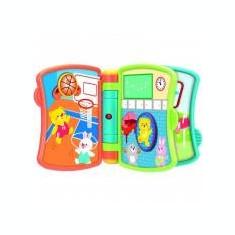 Carticica interactiva Winfun pentru bebelusi cu melodii si sunete - Jucarie pentru patut