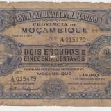 PORTUGUESE MOZAMBIQUE MOZAMBIC 2 1/2 ESCUDOS 1941 U - bancnota africa
