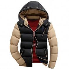 Geaca slim de iarna pentru barbati cu gluga detasabila model 2016 - Geaca barbati, Marime: L, XL, XXXL, Culoare: Din imagine, Poliester