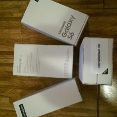 Samsung Galaxy S6 G920F 32GB Black/White/Gold/Topaz Blue Sigilat Nou - Telefon mobil Samsung Galaxy S6, Negru, Neblocat