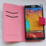Husa Samsung Galaxy Note 3 N9000 N9002 N9005 + folie protectie display - Husa Telefon Samsung, Rosu, Gel TPU, Cu clapeta