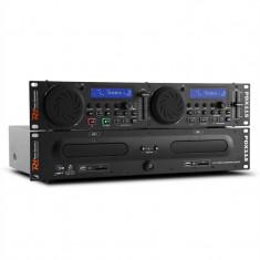 Power Dynamic PDX115, dual DJ CD player controler cu SD, USB, CD, MP3, suport - CD Player DJ