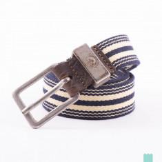 Curea textila+piele DIESEL BTAPES marime 95 cm, noua *ORIGINALA* - Curea Barbati Diesel, Culoare: Albastru