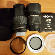 Obiectiv Nikon 18-105mm + Filtru Polarizare HOYA + Obiectiv Tamron 55-200mm - Obiectiv DSLR