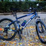 Bicicleta MTB Rockrider 520 in stare excelenta cu o multime de accesorii utile. - Mountain Bike, 19 inch, 27.5 inch, Numar viteze: 24, Aluminiu, MTB XC Hardtail