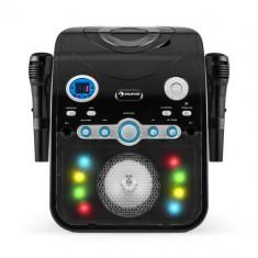Sistemul Auna Starmaker Karaoke BK CD Bluetooth AUX LED efect de iluminat 2 x microfon - Echipament karaoke