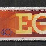 Germania.1976 25 ani Uniunea Carbunelui si Otelului SG.346 - Timbre straine, Nestampilat