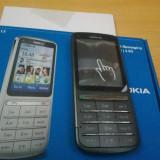 Nokia C3-01 argintiu impecabil reconditionat in cutie - Telefon mobil Nokia C3-01, Neblocat